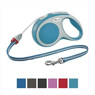 Flexi Vario Retractable Cord Dog Leash, Turquoise, Small, 16 ft