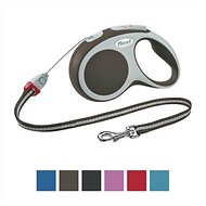 Flexi Vario Retractable Cord Dog Leash, Brown, Medium, 16 ft