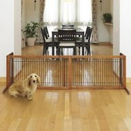 Richell Freestanding Gate for Dogs & Cats, Autumn Matte, Large