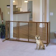 Richell Deluxe Freestanding Gate with Door for Dogs & Cats, Medium