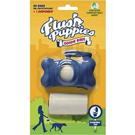 Flush Puppies Bone Dispenser + 20 Doodie Bags for Dogs