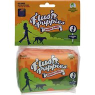 Flush Puppies Wallet Style Flushable & Certified Compostable Doodie Bags for Dogs, 60 count