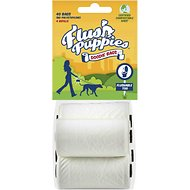 Flush Puppies Flushable & Certified Compostable Doodie Bags for Dogs, 40 count
