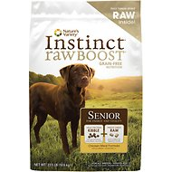Nature's Variety Instinct Raw Boost Grain-Free Senior Chicken Meal Formula Dry Dog Food, 25.3-lb bag