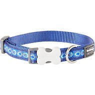 Red Dingo Designer Cosmos Dog Collar, Blue, 15mm