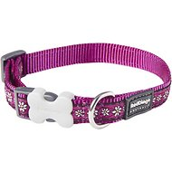Red Dingo Designer Daisy Chain Dog Collar, Purple, 15mm