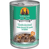 Weruva That's My Jam! With Chicken & Lamb in Gelee Canned Dog Food, 14-oz, case of 12
