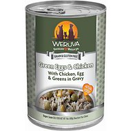 Weruva Green Eggs & Chicken with Chicken, Egg, & Greens in Gravy Canned Dog Food, 14-oz, case of 12