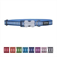 Red Dingo Reflective Dog Collar, Medium Blue, 15mm