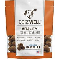 Dogswell Vitality Beef Recipe Meatballs Dog Treats, 15-oz bag