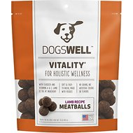 Dogswell Vitality Lamb Recipe Meatballs Dog Treats, 15-oz bag