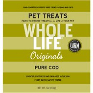 Whole Life Pure Cod Freeze-Dried Dog & Cat Treats, 6-oz box