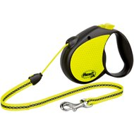 Flexi Neon Reflect Retractable Cord Dog Leash, Black/Yellow, Medium