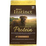 Nature's Variety Instinct Ultimate Protein Duck Formula Grain-Free Dry Dog Food, 4-lb bag