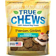 True Chews Premium Sizzlers with Real Chicken & Apple Dog Treats, 12-oz bag