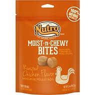 Nutro Moist-N-Chewy Bites Roasted Chicken Dog Treats, 6.5-oz bag