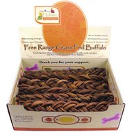 "Canine Caviar Braided Buffalo Bully Stix 12"" Dog Treats, 30-piece box"