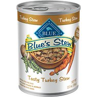 Blue Buffalo Blue's Tasty Turkey Stew Grain Free Canned Dog Food, 12.5-oz, case of 12