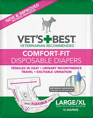Vet's Best Comfort-Fit Disposable Female Dog Diapers