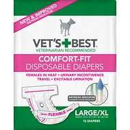 Vet's Best Comfort-Fit Disposable Diapers for Female Dogs, Large/X-Large