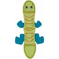 Outward Hound Fire Biterz Lizard Dog Toy, Green