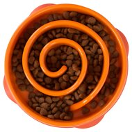 Outward Hound Fun Feeder Interactive Dog Bowl, Orange, Mini