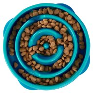 Outward Hound Fun Feeder Interactive Dog Bowl, Teal, Mini