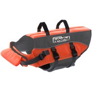 Outward Hound PupSaver Ripstop Dog Life Jacket, Medium Bright Orange