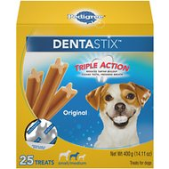 Pedigree Dentastix Small Original Dog Treats, 25-count