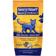 Natural Balance Wild Pursuit Chicken, Turkey Meal & Quail Formula Grain-Free Dry Cat Food, 1.5-lb bag