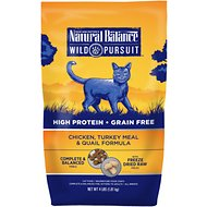 Natural Balance Wild Pursuit Chicken, Turkey Meal & Quail Formula Grain-Free Dry Cat Food, 4-lb bag