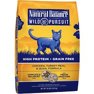 Natural Balance Wild Pursuit Chicken, Turkey Meal & Quail Formula Grain-Free Dry Cat Food, 10-lb bag