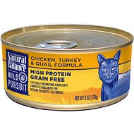 Natural Balance Wild Pursuit Chicken, Turkey & Quail Formula Grain-Free Canned Cat Food, 6-oz, case of 24