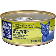 Natural Balance Wild Pursuit Turkey, Chicken & Guinea Fowl Formula Grain-Free Canned Cat Food, 6-oz, case of 24
