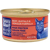 Natural Balance Wild Pursuit Beef, Buffalo & Venison Formula Grain-Free Canned Cat Food, 3-oz, case of 24