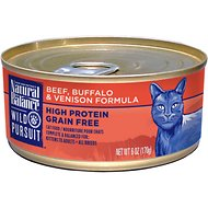 Natural Balance Wild Pursuit Beef, Buffalo & Venison Formula Grain-Free Canned Cat Food, 6-oz, case of 24