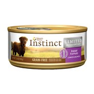 Instinct by Nature's Variety Limited Ingredient Diet Grain-Free Rabbit Formula Canned Dog Food, 5.5-oz, case of 12