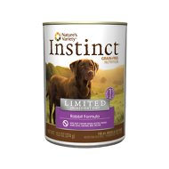 Instinct by Nature's Variety Limited Ingredient Diet Grain-Free Rabbit Formula Canned Dog Food, 13.2-oz, case of 12