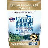 Natural Balance L.I.D. Limited Ingredient Diets Legume & Wagyu Beef Formula Grain-Free Dry Dog Food, 4.5-lb bag