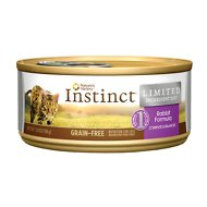 Nature's Variety Instinct Grain-Free Limited Ingredient Diet Rabbit Formula Canned Cat Food, 5.5-oz, case of 12