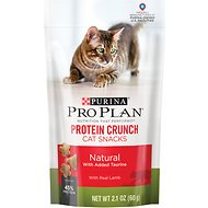 Purina Pro Plan Protein Crunch with Real Lamb Cat Treats, 2.1-oz bag