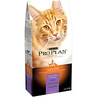 Purina Pro Plan Savor Adult Tuna & Rice Formula Dry Cat Food, 16-lb bag