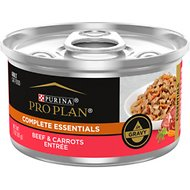 Purina Pro Plan Savor Adult Beef Entrée with Carrots Braised in Gravy Canned Cat Food, 3-oz, case of 24