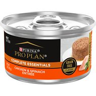 Purina Pro Plan Adult Classic Chicken & Spinach Entrée Canned Cat Food, 3-oz, case of 24