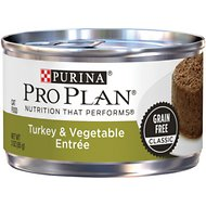 Purina Pro Plan Savor Adult Classic Turkey & Vegetable Entrée Canned Cat Food, 3-oz, case of 24