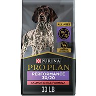 Purina Pro Plan Sport All Life Stages Performance 30/20 Salmon & Rice Formula Dry Dog Food, 33-lb bag