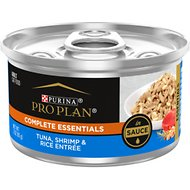 Purina Pro Plan Savor Adult Tuna, Shrimp & Rice Entrée in Sauce Canned Cat Food, 3-oz, case of 24