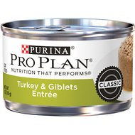 Purina Pro Plan Adult Classic Turkey & Giblets Entrée Canned Cat Food, 3-oz, case of 24
