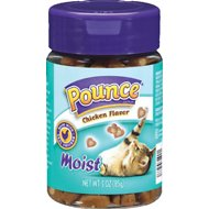Pounce Moist Chicken Flavor Cat Treats, 3-oz jar