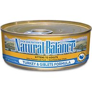 Natural Balance Ultra Premium Turkey & Giblets Formula Canned Cat Food, 5.5-oz, case of 24